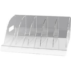 Trieur pour  classeurs,  5 compartiments, acrylique transparent