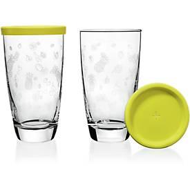 Trinkgläser Set rastal GIRONA, 4-tlg., 2 Gläser + 2 Deckel, Inhalt jew. 0,3 l, in Geschenkkarton