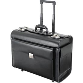 Trolley/Pilotenkoffer SILVANA, schwarz, vesch. Materialien