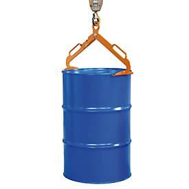 Trommeltang LGZ, voor 200 liter bung-trommels, oranje (RAL2000)