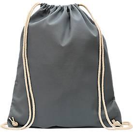 Turnbeutel, 100 % Baumwolle, mit Zugbändern, auch als Rucksack tragbar