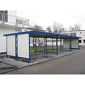 Überdachungssystem Modell Leipzig, doppelseitig, Anbaueinheit, B 4300 mm