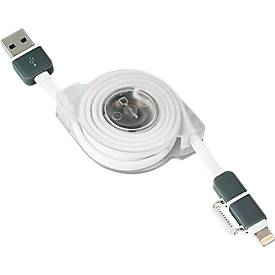 Universal Lade- und Datenkabel ROLLER, USB auf Micro-USB, Länge 1 m