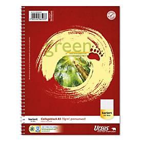 Ursus® Green Collegeblock, 160 Blatt