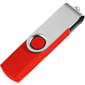 USB-Stick, mit Micro-USB-Anschluss, 4 GB, rot