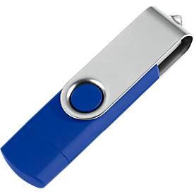 USB-Stick, mit Micro-USB-Anschluss, blau