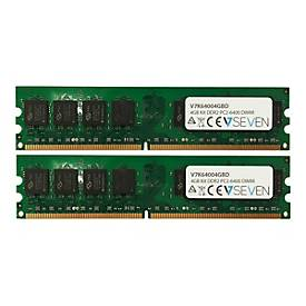 Image of V7 - DDR2 - 4 GB: 2 x 2 GB - DIMM 240-PIN - ungepuffert