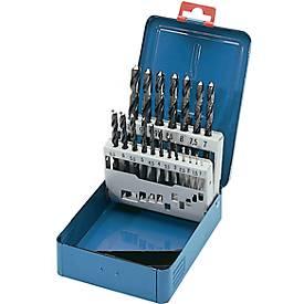 VA-Spiralbohrer HSSE 1,0-10,5 um 0,5 + Kernlochb. DIN 338VA Metallkassette