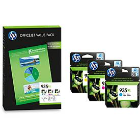 Value Pack HP Druckpatronen Nr. 935XL color (F6U78AE) inkl. 75 Blatt Papier