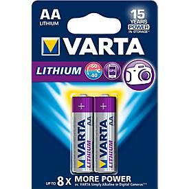 VARTA Batterie PROFESSIONAL LITHIUM, Mignon AA, 1,5 V, 2 oder 4 Stück
