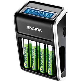 VARTA chargeur de piles LCD Plug pour les piles AA/AAA/9 V et les appareils branchés en USB