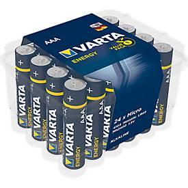 VARTA ENERGY batterijen, Micro AAA, 1,5 V, 24 stuks