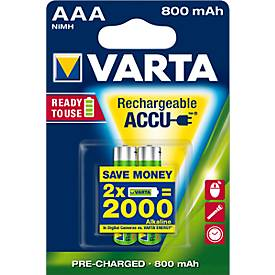 VARTA piles rechargeables, différents types
