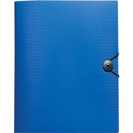 VELOFLEX Sammelmappe DIAMOND BUSINESS, DIN A4, Polypropylen-Folie, blau