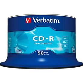 Verbatim® CD-R, bis 52fach, 700 MB/80 min, 50er Spindel