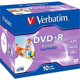 Verbatim® DVD+R, bis 16fach, 4,7 GB/120 min