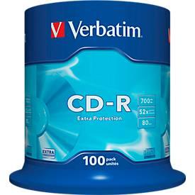 Verbatim® CD-R, bis 52fach, 700 MB/ 80 min, 100er-Spindel