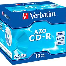 Verbatim® CD-R, bis 52fach, 700 MB/80 min, 10 JewelCases