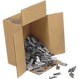 Verschlusshülsen für Kunststoff-Umreifungsband, verzinkt, 2000 Stück