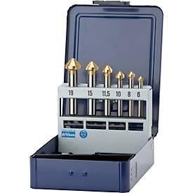Verzinker in set 6,3-20,5 mm HSS 90 Gr.