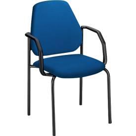 Vierfuß-Besucherstühle LEANOS, mit Armlehnen