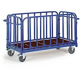 Vierwandige trolley, 1600 x 800 mm, draagvermogen 1.200 kg.