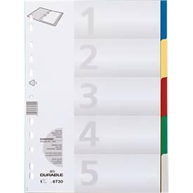 Vollfarbige PP-Register von DURABLE , überbreit