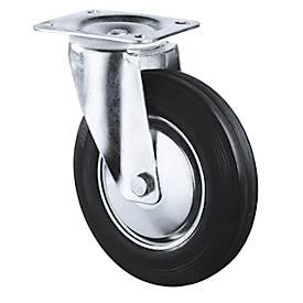 Vollgummi-Räder, schwarz