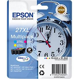 Voordeel set : Epson inkpatroon T2715XL, cyaan, magenta, geel
