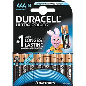 Voordeelpak: DURACELL® batterijen Ultra Power, Micro AAA, pak van 8