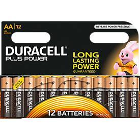 Voordeelpak DURACELL® Plus Mignon AA LR06 batterijen, 12 stuks