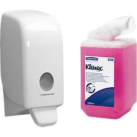 Voordeelset Kleenex® Aquarius zeepdispenser+ 1 patroon schuimende zeep