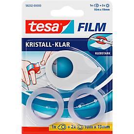 Voordelige set tesafilm® Mini dispenser + 2 rollen tesafilm®, voor rollen tot b 19 mm x L 10 m, diverse kleuren