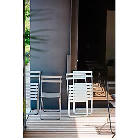 Vouwstoel Jan Kurtz Spring, B 430 x D 490 x H 820 mm, 5 kg, stalen buis met poedercoating, 2 stuks, zwart
