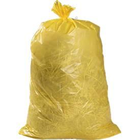 Vuilniszakken Premuim LDPE, 240 liter, geel, 100 stuks