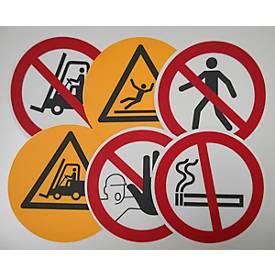 Rond waarschuwingsbord voor op de grond: Roken verboden