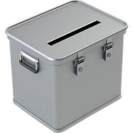 Wahlurne A 1569, für Stimmzettel DIN A4, Aluminium, 50 oder 110 Liter Inhalt