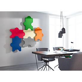 Wandabsorber Puzzle, B 1000 x H 500 mm, Polyestervlies in Filzoptik, versch. Farben