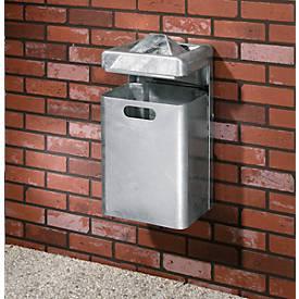 Wandascher-/Abfallkombination, 35 Liter