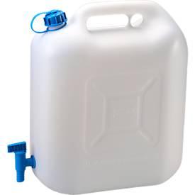 Wasser-Kanister ECO, mit Hahn, 20 l, natur