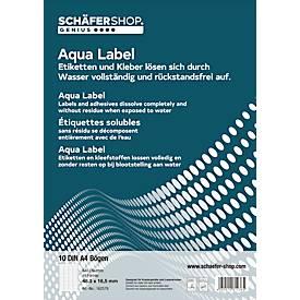 Wasserlösliche Etiketten 48,3 x 16,5 mm