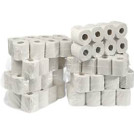 WC-papier, 2-laags, 64 rollen van elk 250 vellen, cellulose, natuurlijk wit