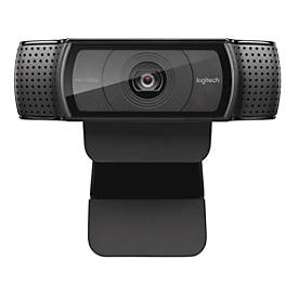 Webcam Logitech HD C920 Full HD C920 Full HD 1080p resolutie, 2 microfoons, briljante 15 MP foto's