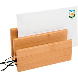 Wedo Briefständer Bambus, 2 Fächer, sehr stabil