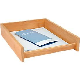Wedo brievenbakje bamboe, voor A4 formaat, stapelbaar