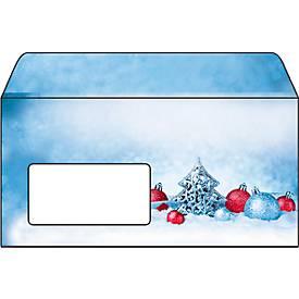 Weihnachts-Briefumschlag Christmas Moments, Fensterstanzung, DIN lang, 25 Stück