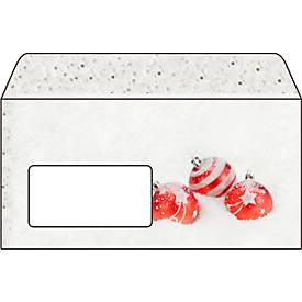 Weihnachts-Briefumschlag Winter Flair, gummiert, Fensterstanzung, DIN lang, 50 Stück