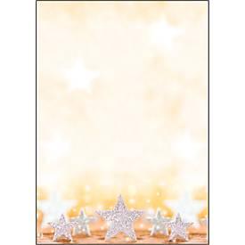 Weihnachts-Motiv-Papier Glitter Stars, DIN A4, 100 Blatt