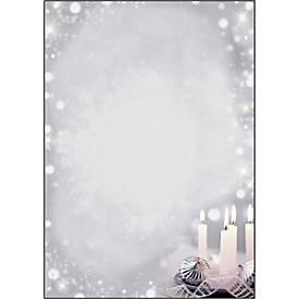 Weihnachts-Motivpapier Sigel Christmas Silence, A4, 90 g/m², Adventskerzenmotiv, 100 Blatt