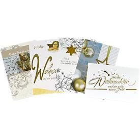 """Weihnachtsgrußkarten-Set """"Elegance"""""""